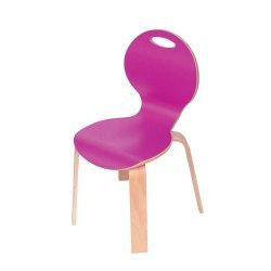 İnci Renkli Laminant İstiflenebilir Ahşap Sandalye