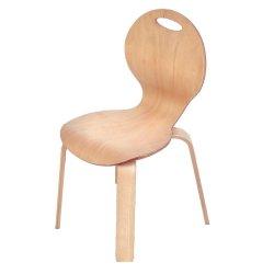 İnci Doğal İstiflenebilir Ahşap Sandalye