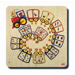 60015Matemetik Serisi Sayı Treni 1-20'ye kadar 33x33cm Ahşap Puzzle