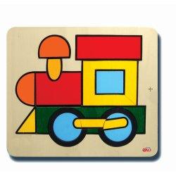 40055Tren (Renk ve geometrik şekil kavramı) 23x26cm
