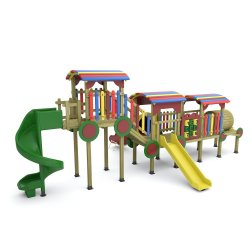 Ahşap Tren Oyun Parkı